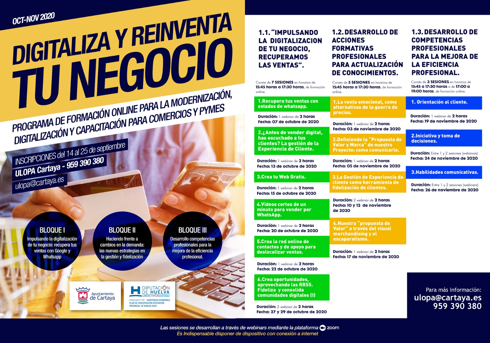 El Ayuntamiento de Cartaya pone en marcha un programa formativo para empresarios